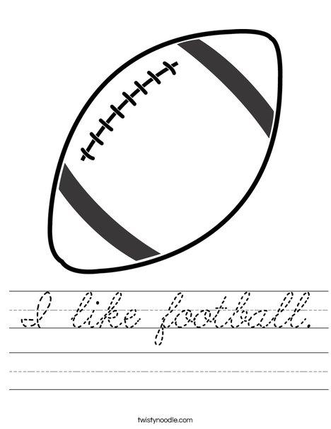 Football 2 Worksheet