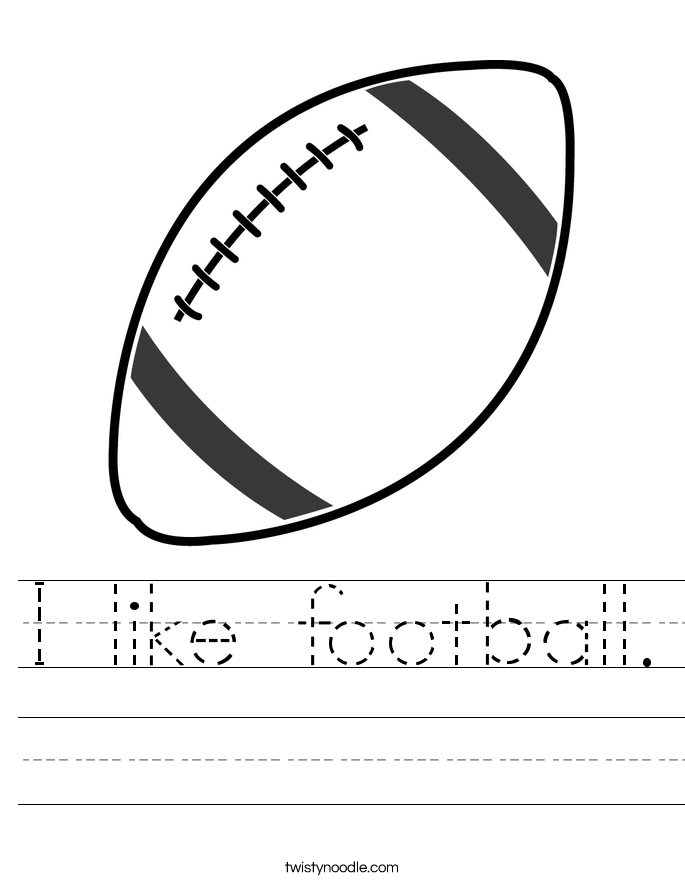 I like football. Worksheet
