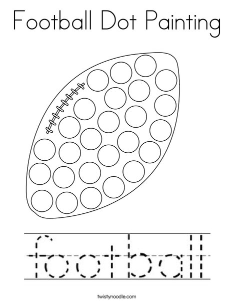 Football Dot Painting Coloring Page