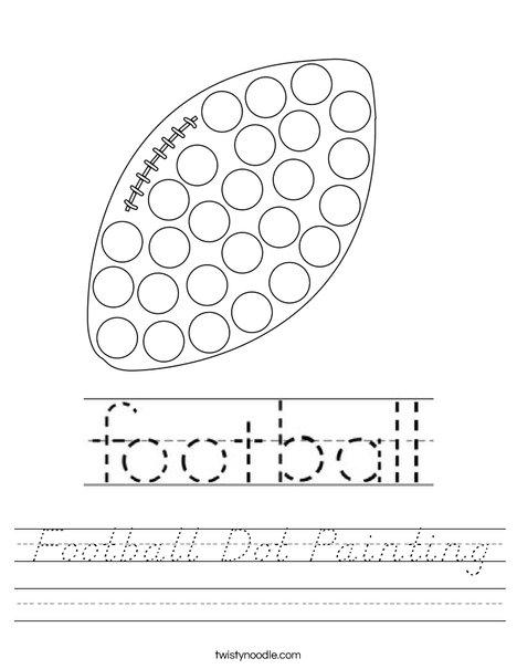 Football Dot Painting Worksheet