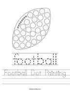 Football Dot Painting Handwriting Sheet