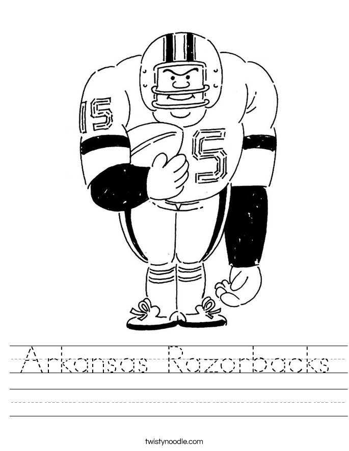 Arkansas Razorbacks Worksheet