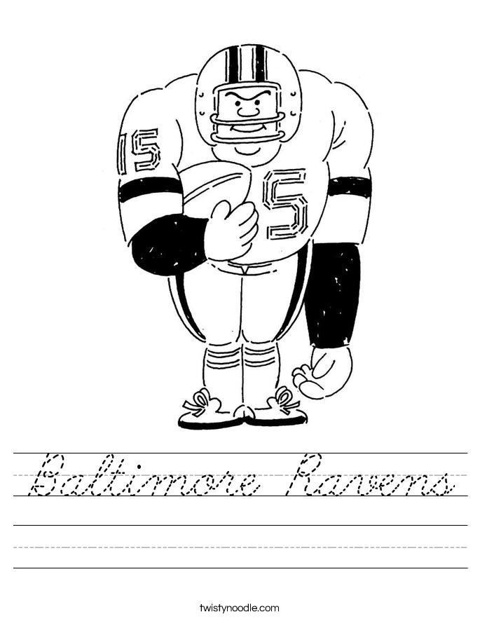 Baltimore Ravens Worksheet