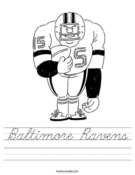 Big Football Player Worksheet