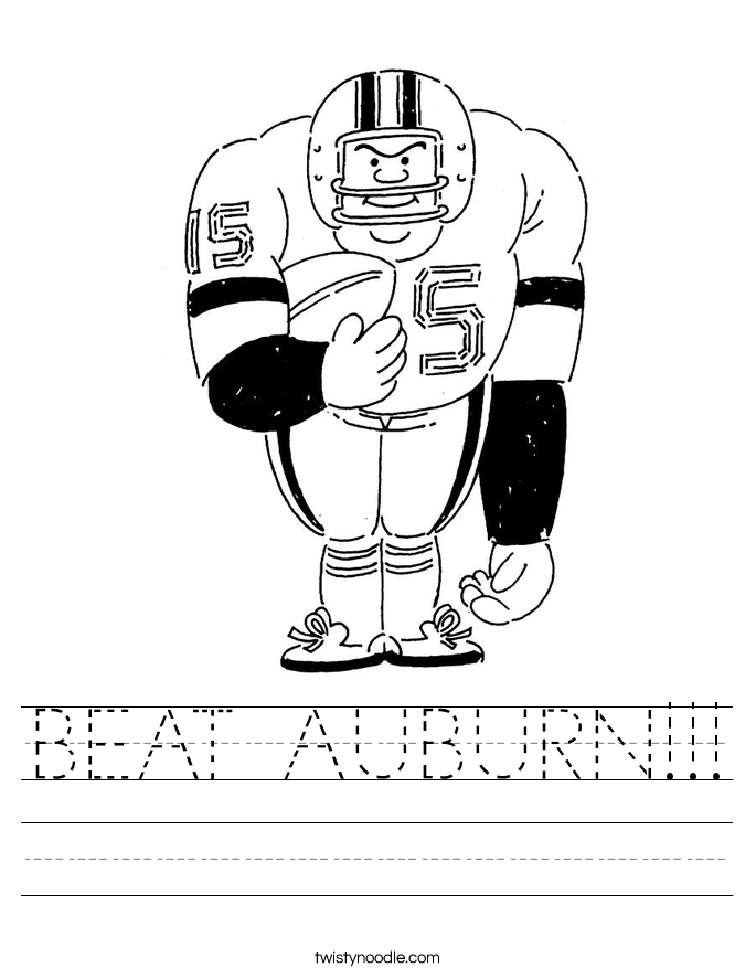 BEAT AUBURN!!! Worksheet