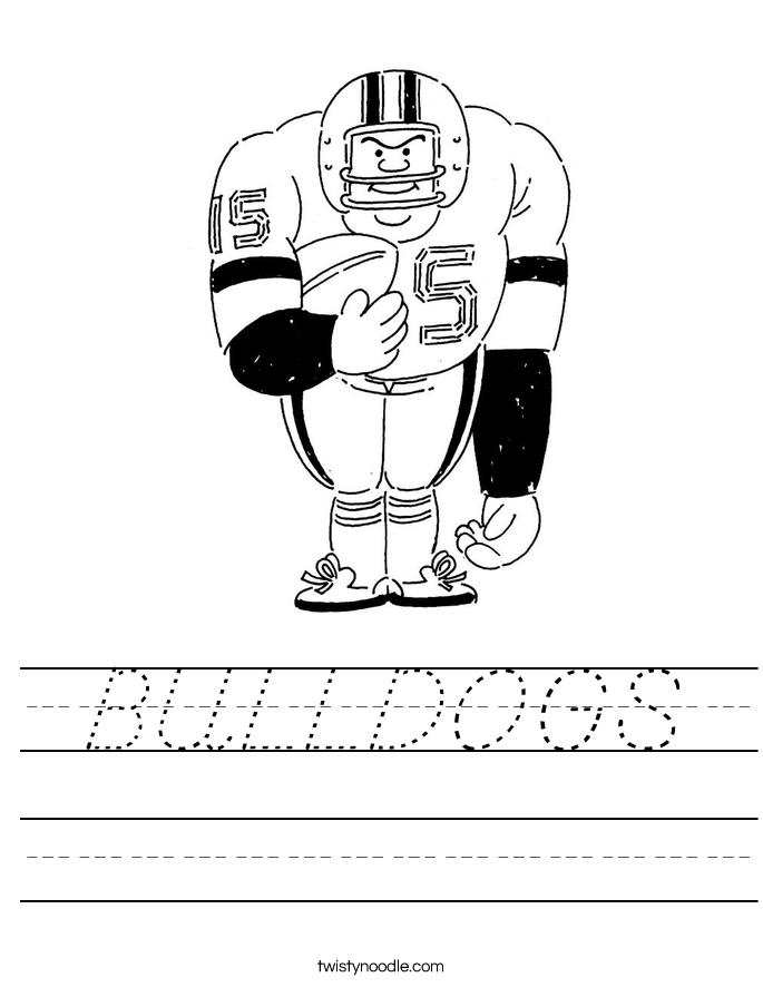 BULLDOGS Worksheet
