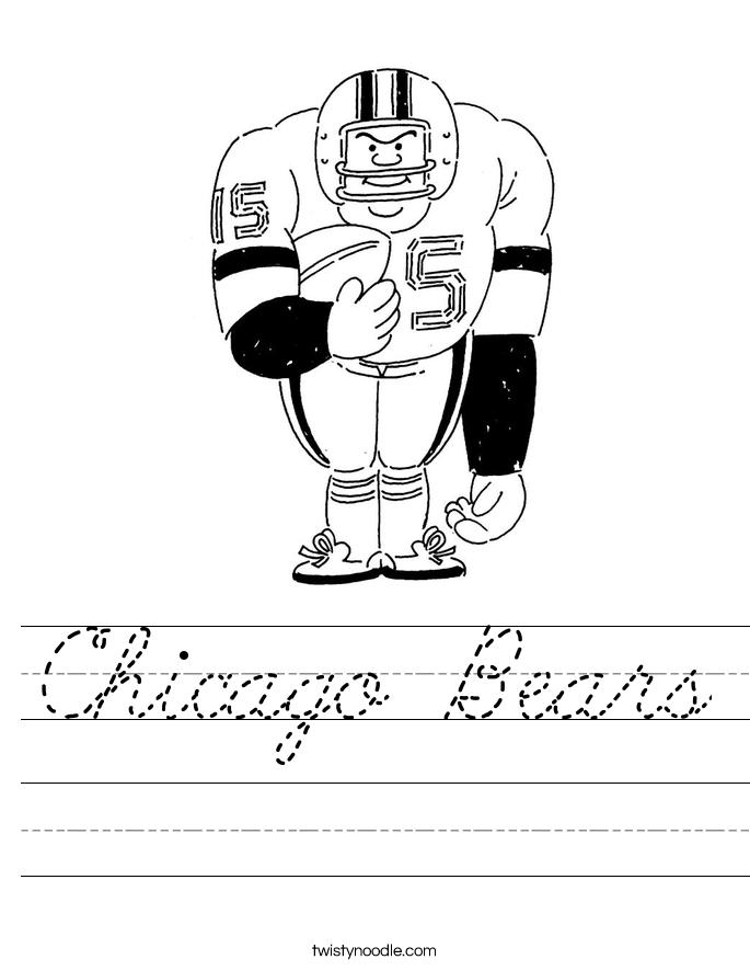Chicago Bears Worksheet