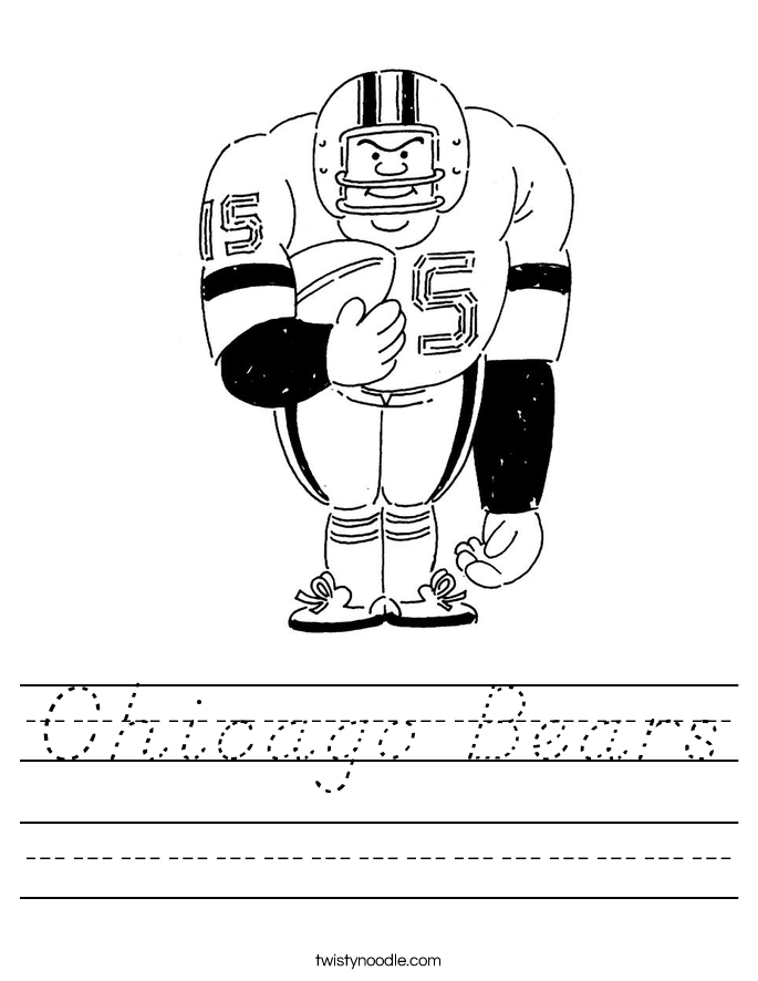 Chicago Bears Worksheet