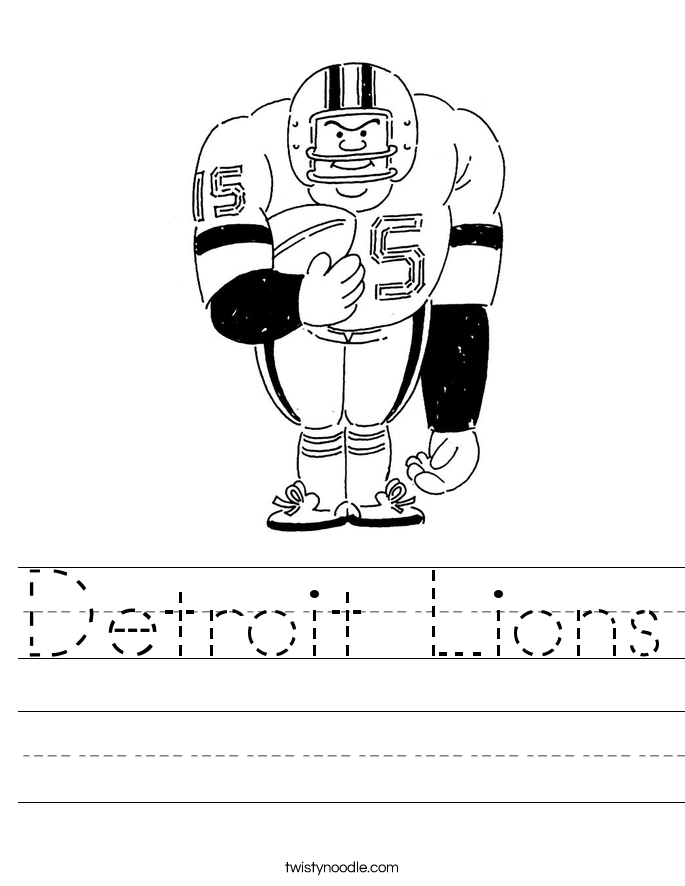 Detroit Lions Worksheet