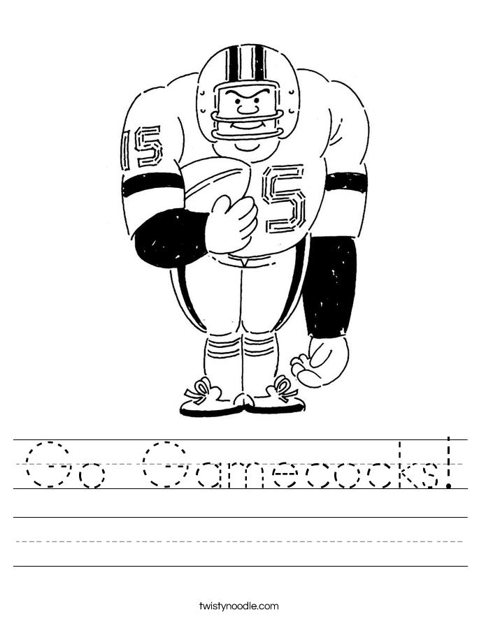 Go Gamecocks! Worksheet