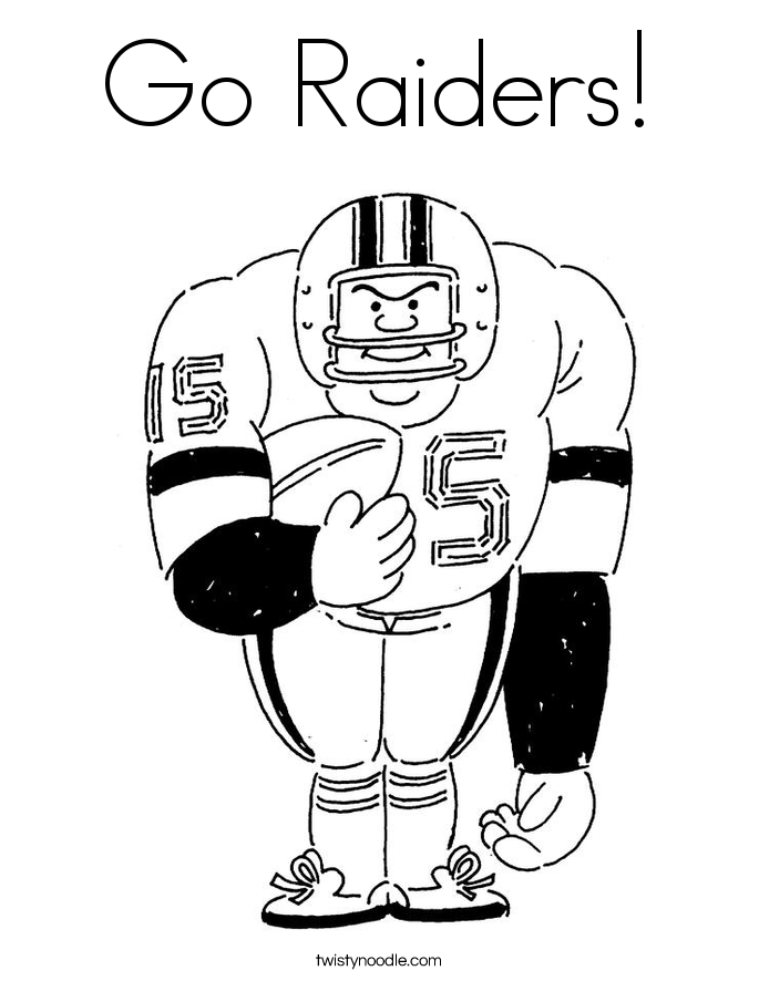 Go Raiders! Coloring Page