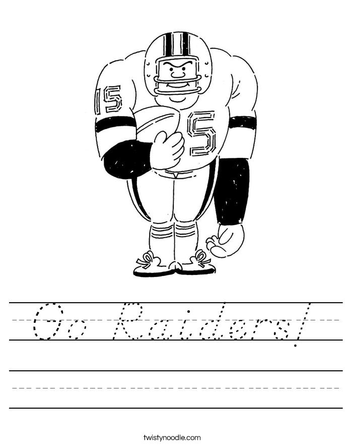 Go Raiders! Worksheet