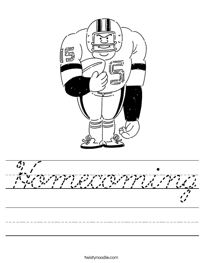 Homecoming Worksheet