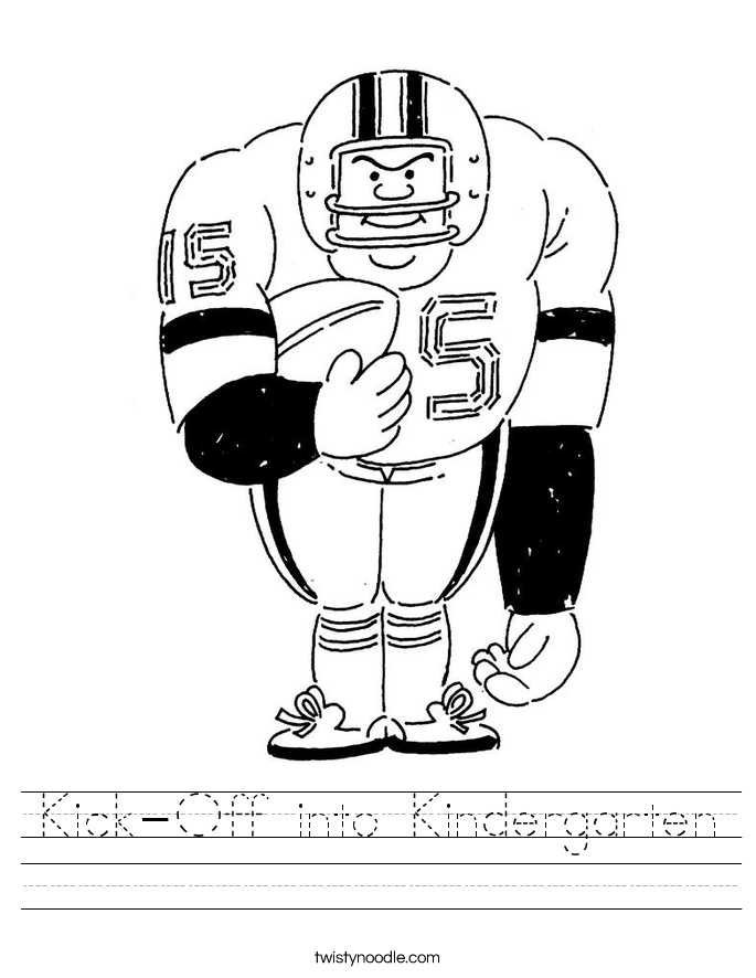 Kick-Off into Kindergarten Worksheet