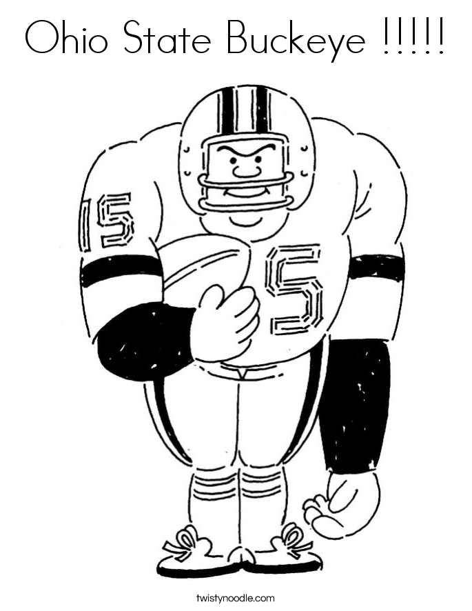 Ohio State Buckeye Coloring Page