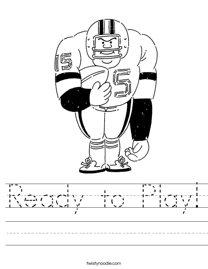 Ready to Play! Worksheet