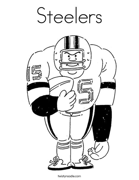 big football player coloring page - Steelers Coloring Pages