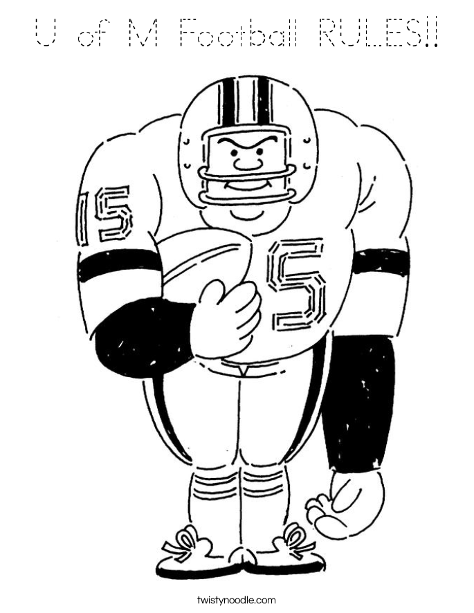 U of M Football RULES!! Coloring Page