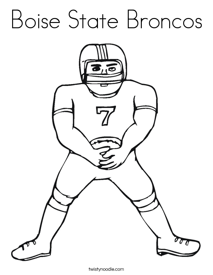 Boise State Broncos Coloring Page