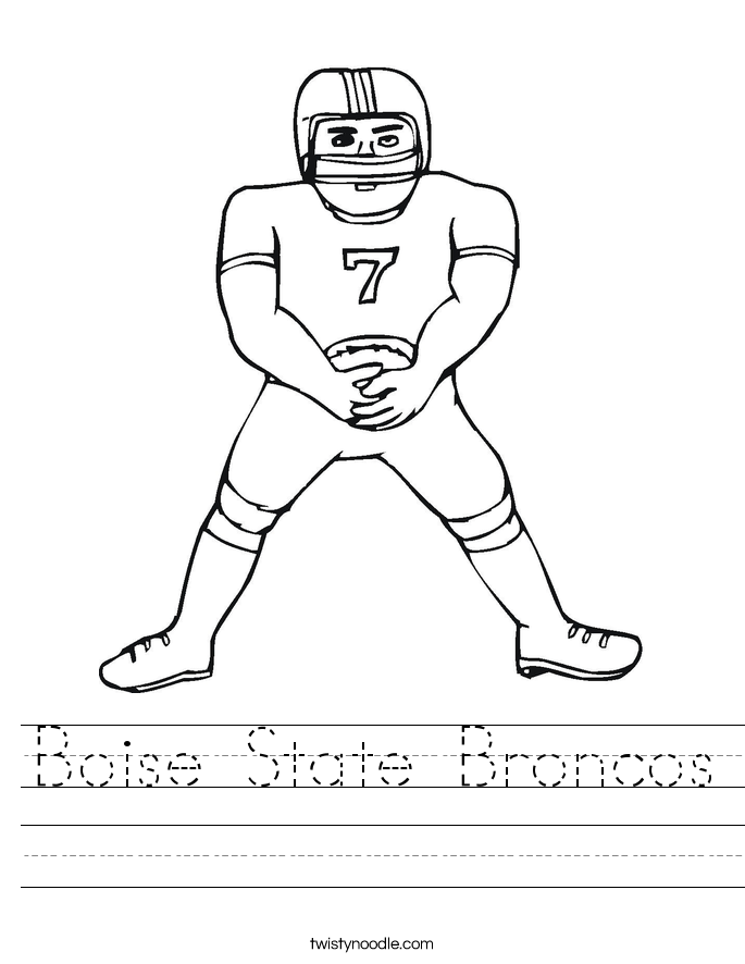 Boise State Broncos Worksheet