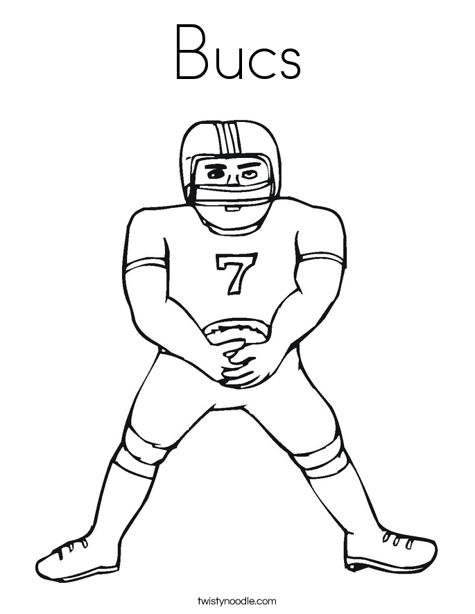 Bucs Coloring Page
