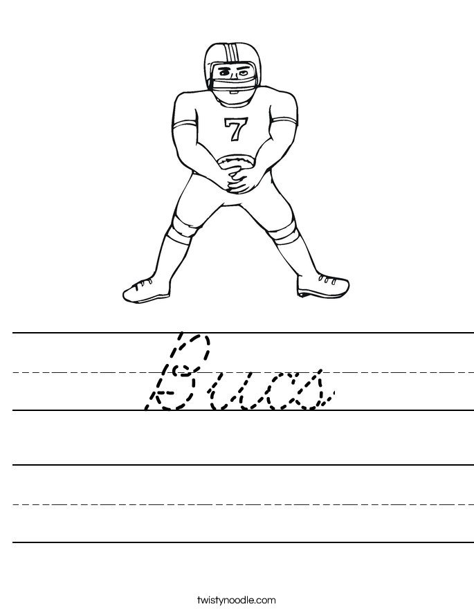 Bucs Worksheet
