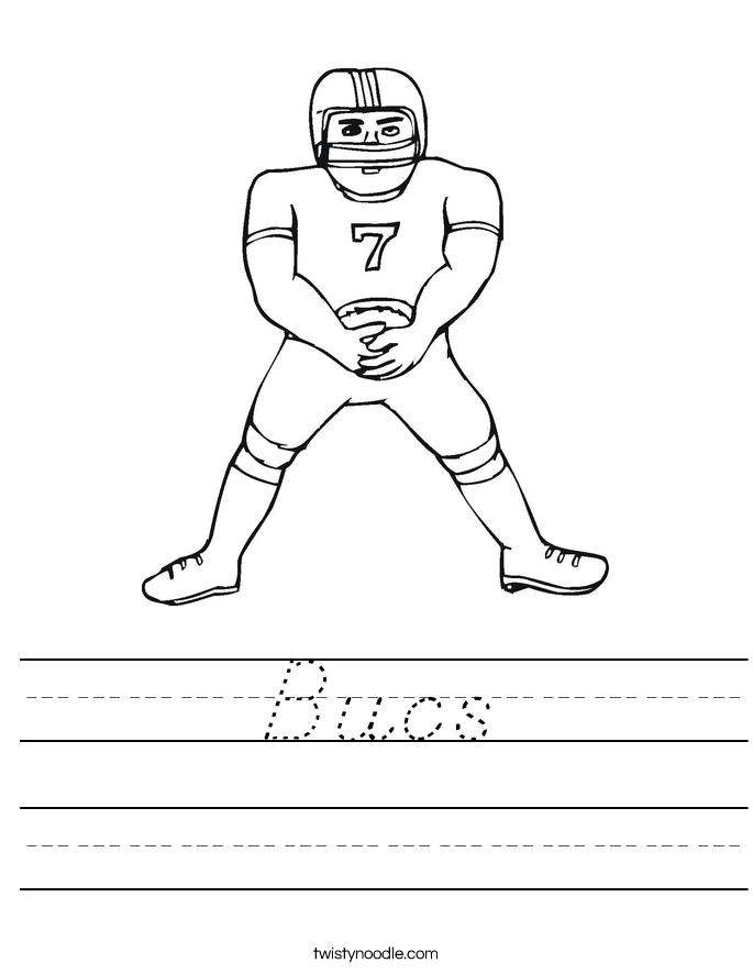 Bucs Worksheet