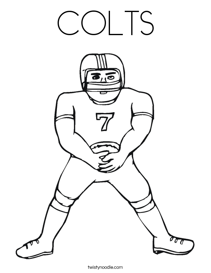 COLTS Coloring Page