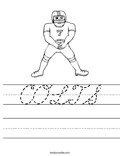 Football Player Worksheet
