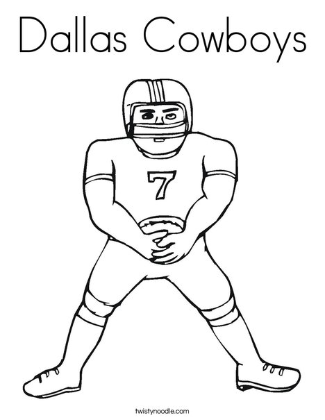 Football Player Coloring Page