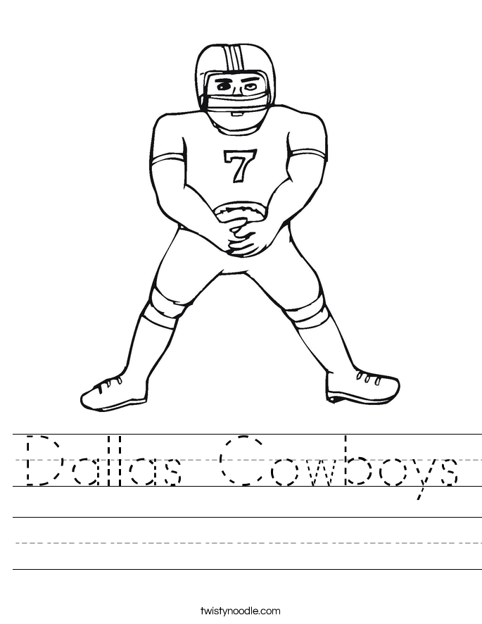 Dallas Cowboys Worksheet