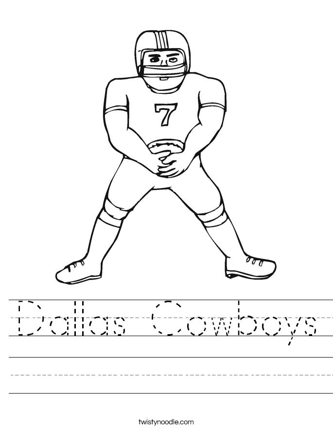 Dallas Cowboys Worksheet