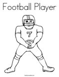 Football PlayerColoring Page