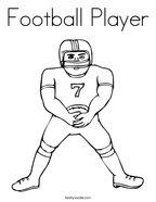 football player coloring page - Coloring Pages Football Players