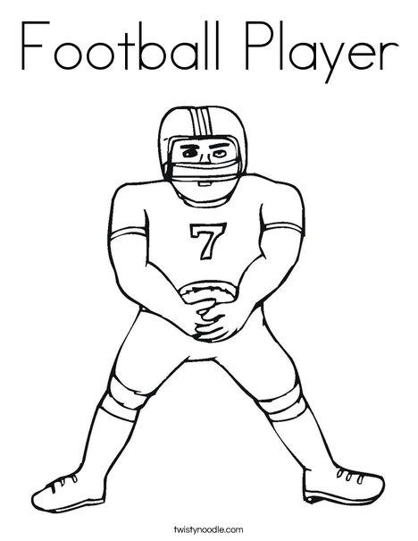 Holiday Coloring Pages nfl football coloring pages : Football Player Coloring Pages Football player coloring page