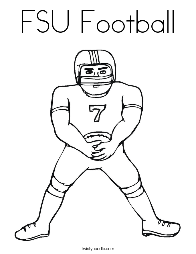 FSU Football Coloring Page