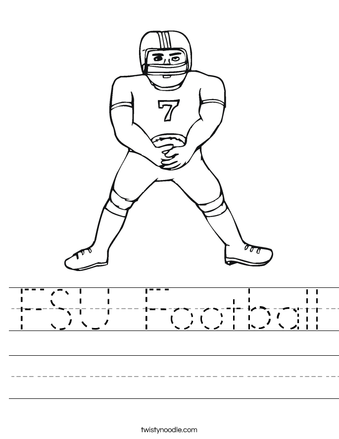 FSU Football Worksheet
