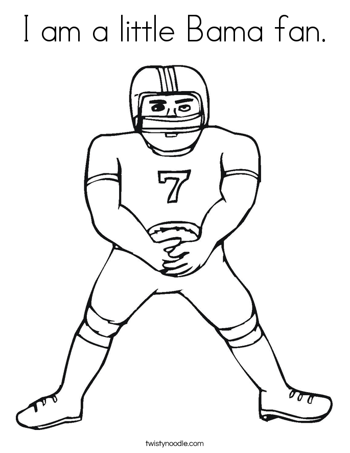 I am a little Bama fan. Coloring Page