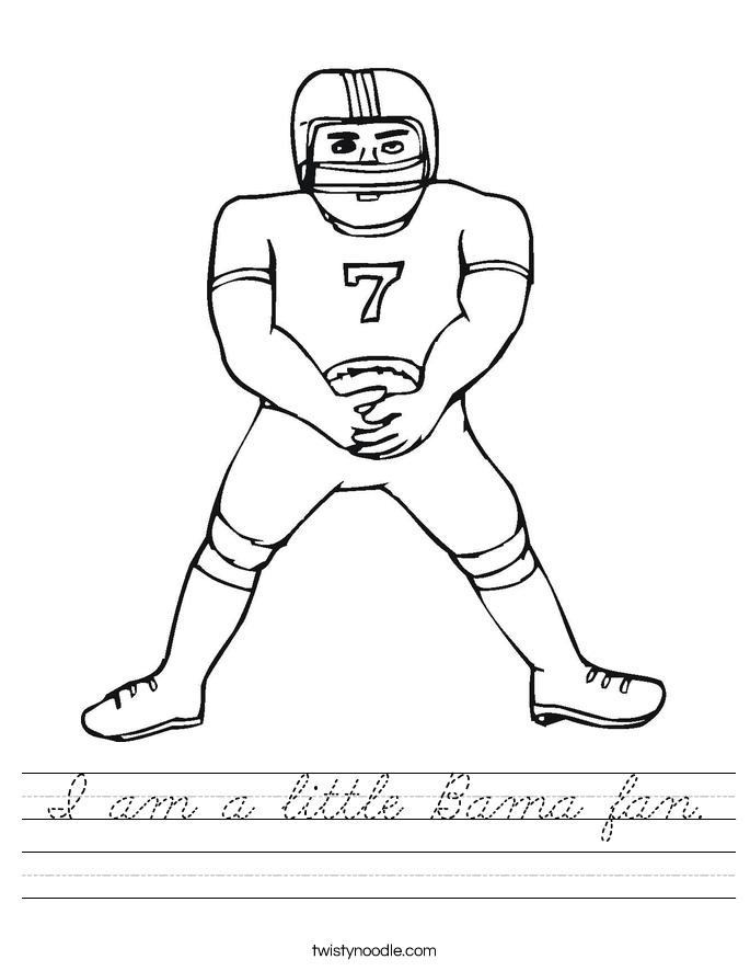 I am a little Bama fan. Worksheet