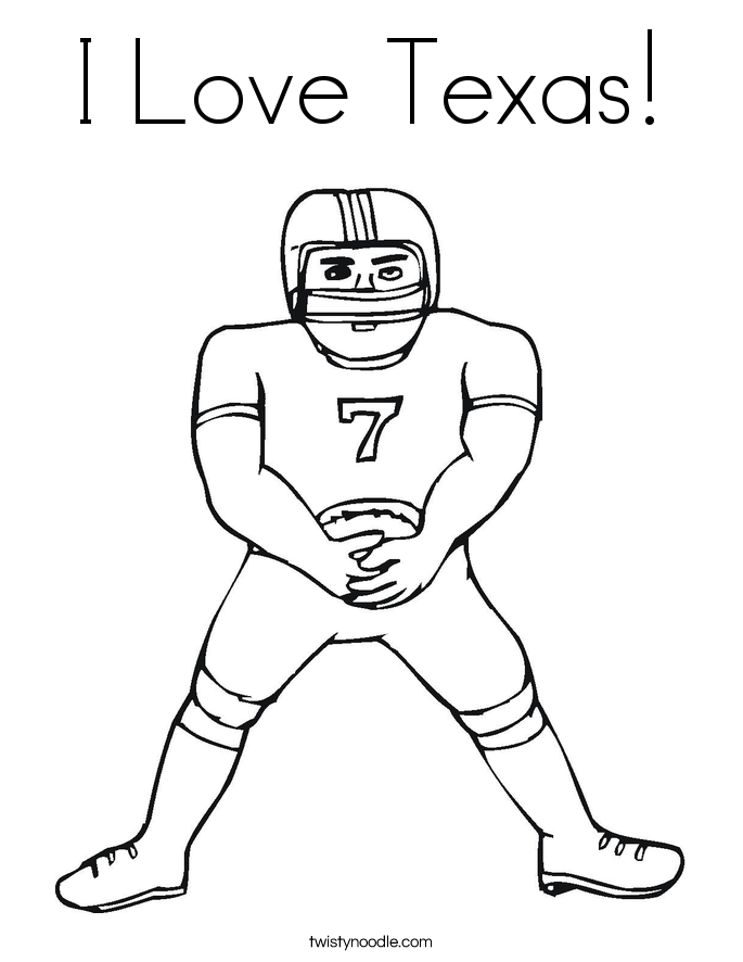 I Love Texas! Coloring Page