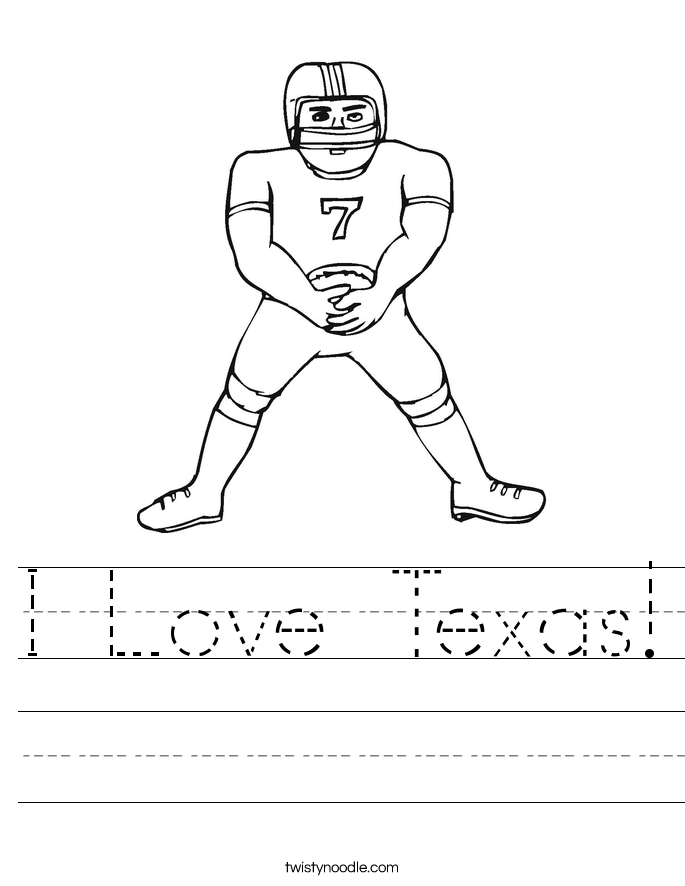 I Love Texas! Worksheet
