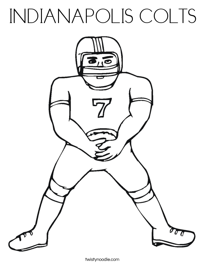 printable indianapolis colts coloring pages - photo#32