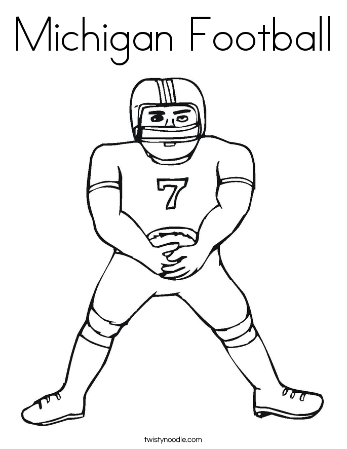 Michigan Football Coloring Page