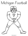 Michigan FootballColoring Page