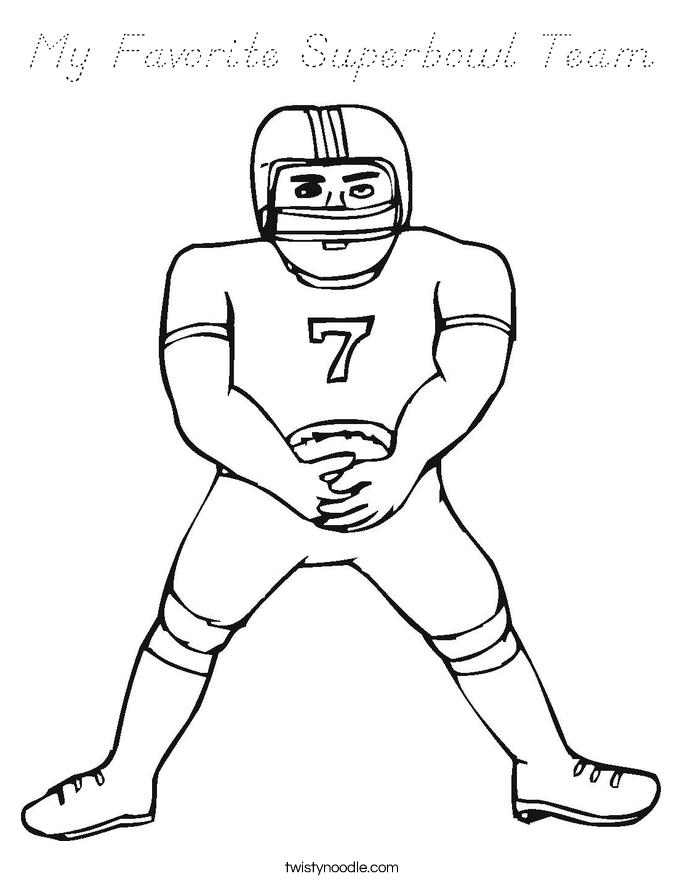 My Favorite Superbowl Team Coloring Page