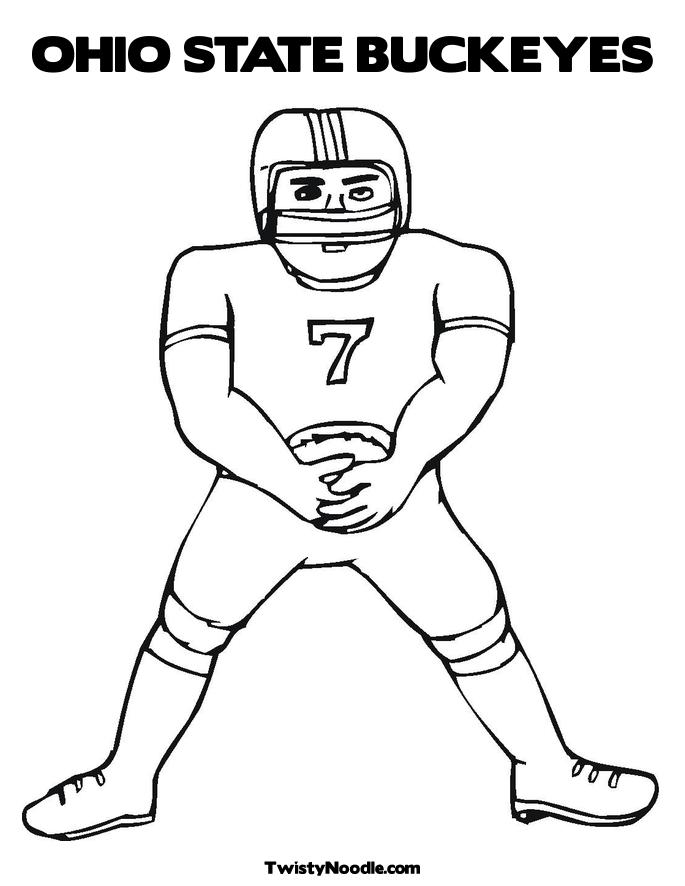Ohio state football free coloring pages for Ohio state coloring pages