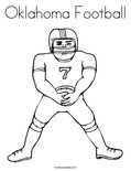 Oklahoma Football Coloring Page