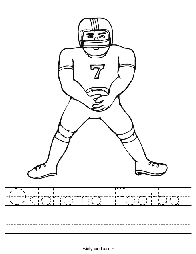 Oklahoma Football Worksheet