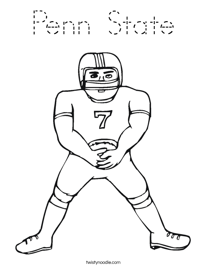 Penn State Coloring Page