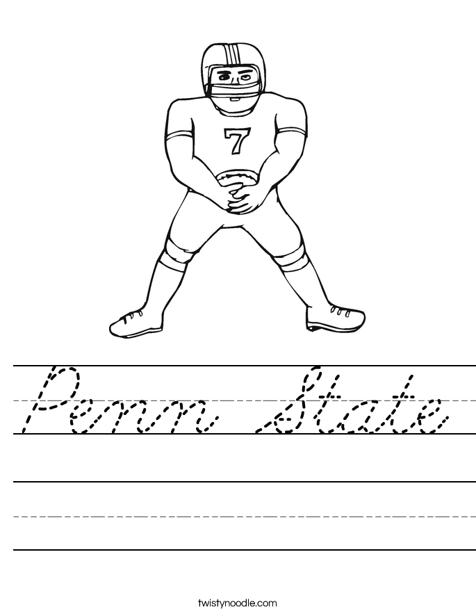 Penn State Worksheet